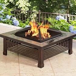 outdoor heater propane firepit wood