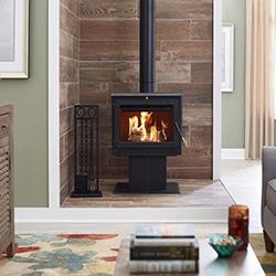 wood pellet heater stove fireplace