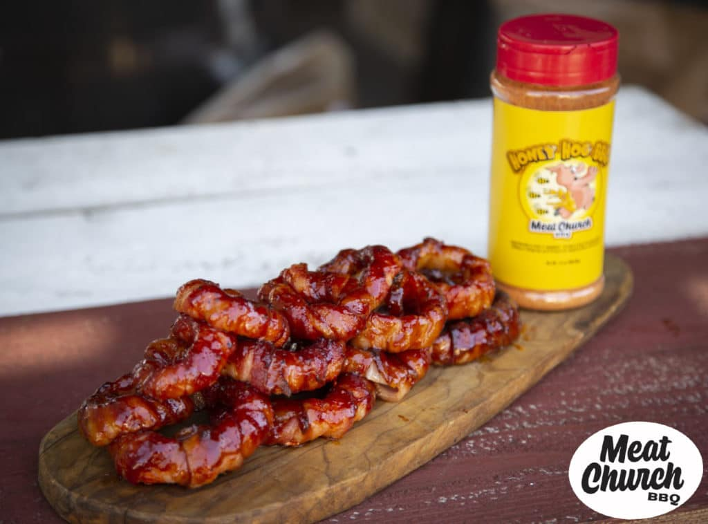 Meat Church Bacon Wrapped Onion Rings