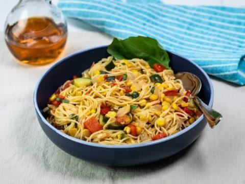 Angel Hair Pasta Grilled Vegetables Recipe