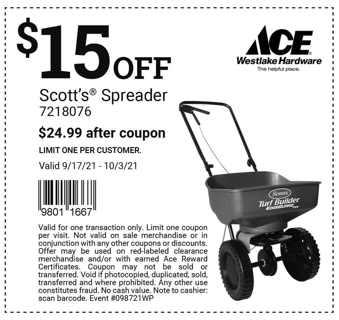 Scotts Spreader coupon