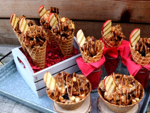 Caramel Apple Cone Dessert Recipe